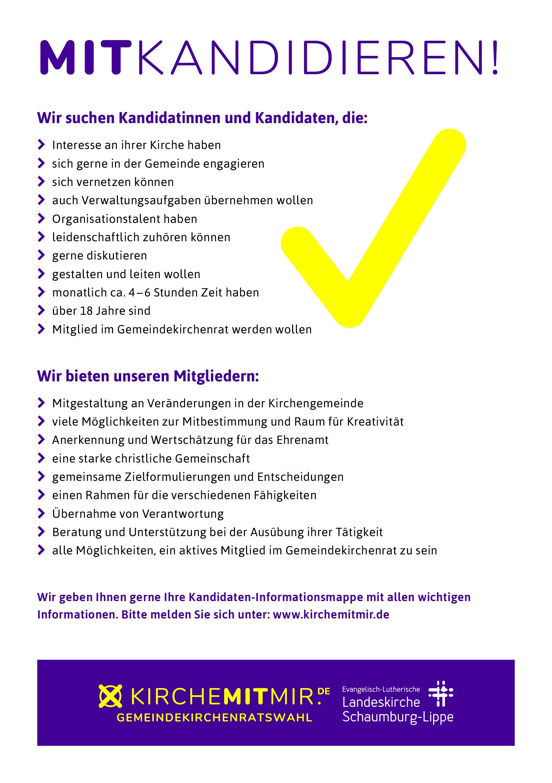 Kirche mit mir - Kirchenvorstandswahl 2018 – Vorlagen für Gemeindebriefe